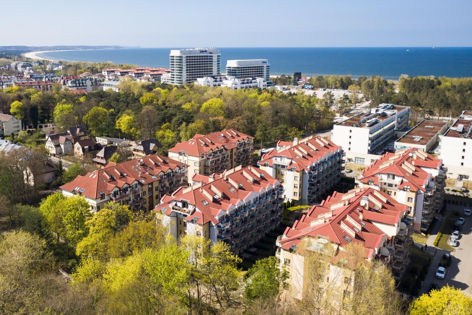 Apartamenty Zdrojowa Świnoujście - widok z góry